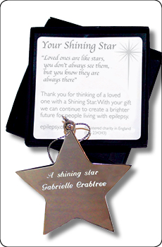 The shining star with inscription