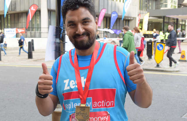 a grand time at the london marathon