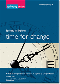 Epilepsy in England: time for change report cover